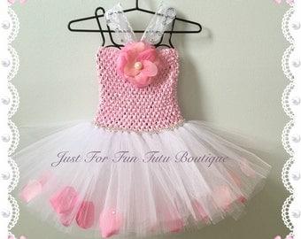 Baby girl tutu dress, Flower tutu, baby tutu, baby flower dress, baby girl dress, baby wedding dress,  baby flower tutu, baby pink tutu