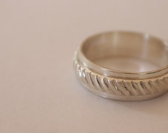 Sterling Silver Wedding Ring/Ring/Stackable Ring -Matte and Gloss Finish