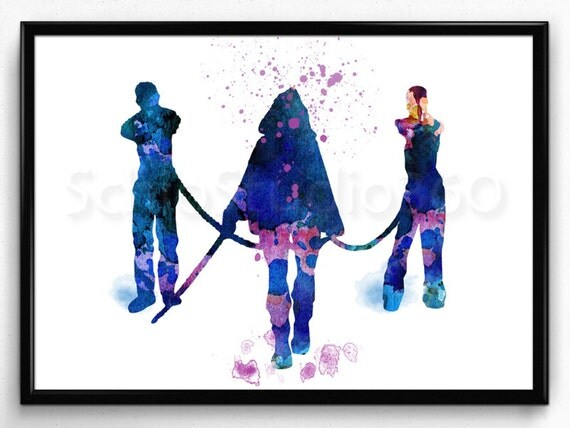 Michonne From The Walking Dead Watercolor Illustrations Artrhetsy: Walking Dead Home Decor At Home Improvement Advice