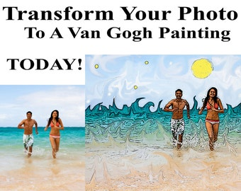 Van Gogh style Photo Oil Painting Transform YOUR EXISTING Photos to Vincent Van Gogh Style Paintings