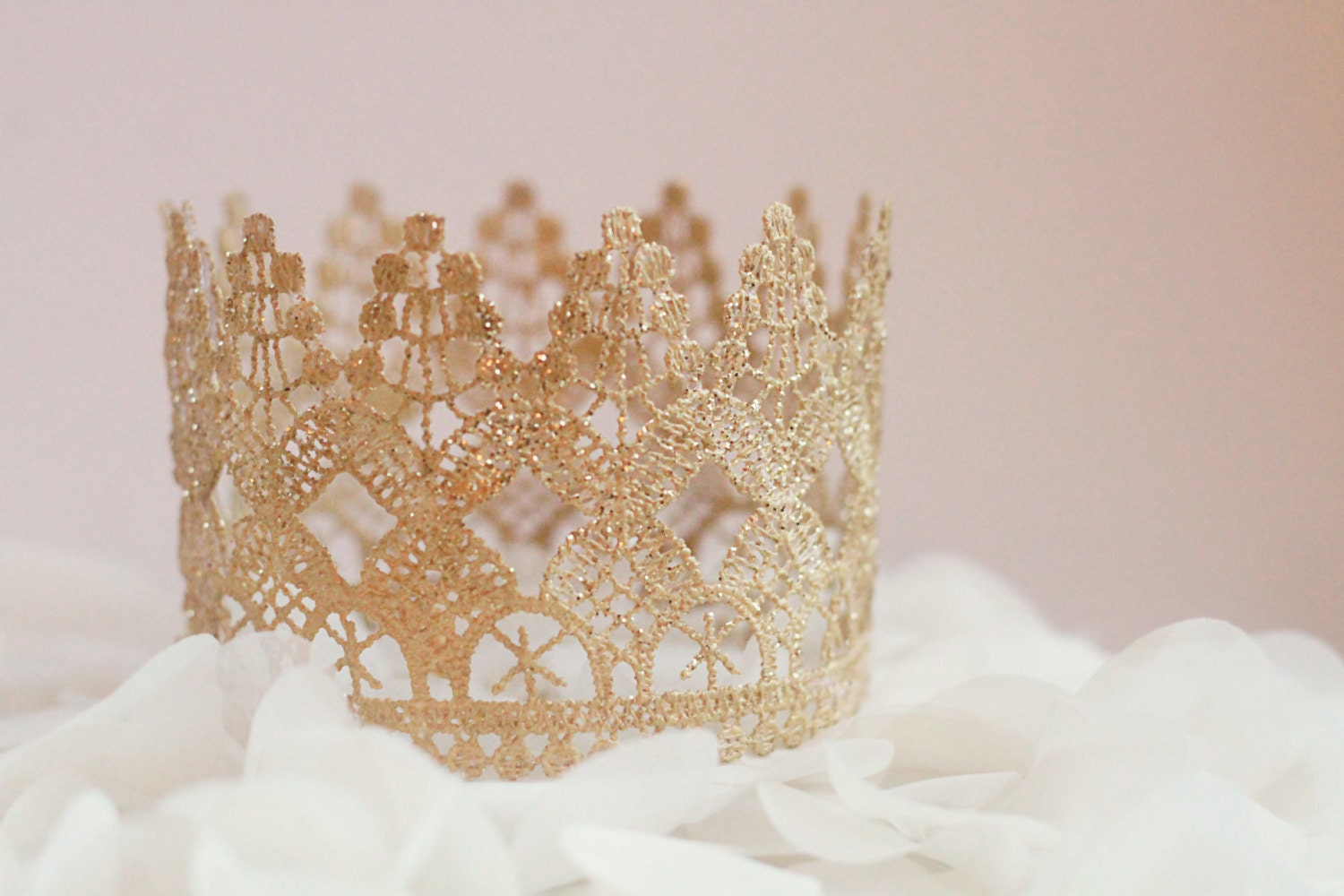 Wedding cake topper Tall Lace crown cake topper