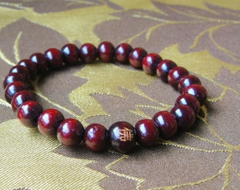 8mm Sandalwood Buddhist Prayer Beads Mala Bracelet UK Various Color