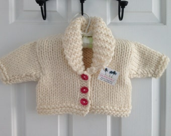 Baby Girl Winter White Frosty Cold Sweater