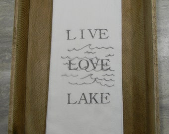 Flour Sack Tea Towels- Lake