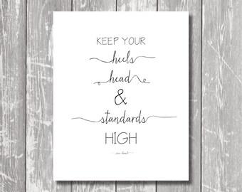 Digi Download - Heels, Head & Standards - Art Print