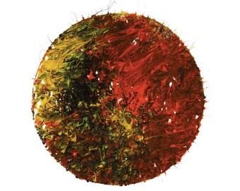 Photography Print, Circular Multi Coloured Planet