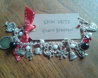 Snow White inspired Charm Bracelet Watch