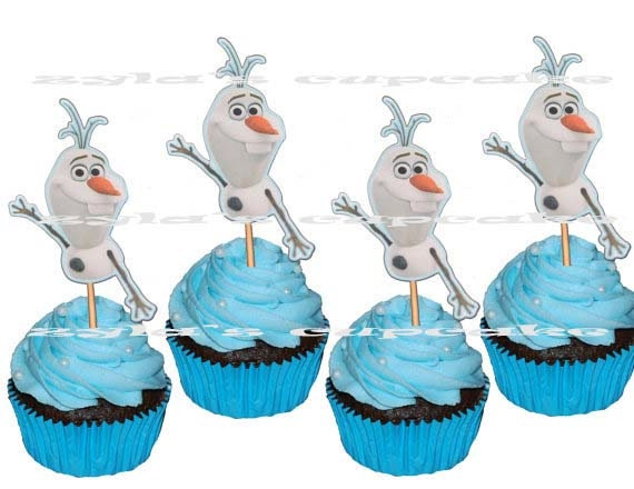 frozen cake topper items similar to frozen olaf cupcake topper or cake pop 4385