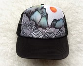 Abstract Mountain Hat