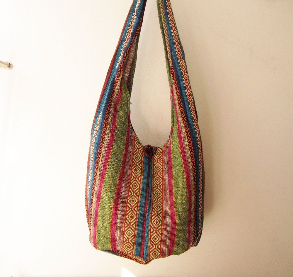 hippie sling bag bohemian messenger bag boho crossbody by