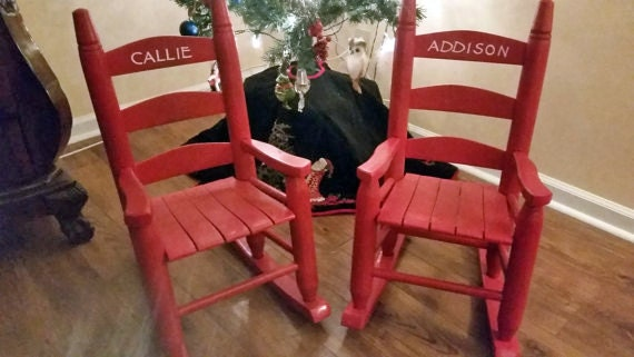Child 39 S Rocking Chair Personalized Child 39 S By Sistersvintageattic