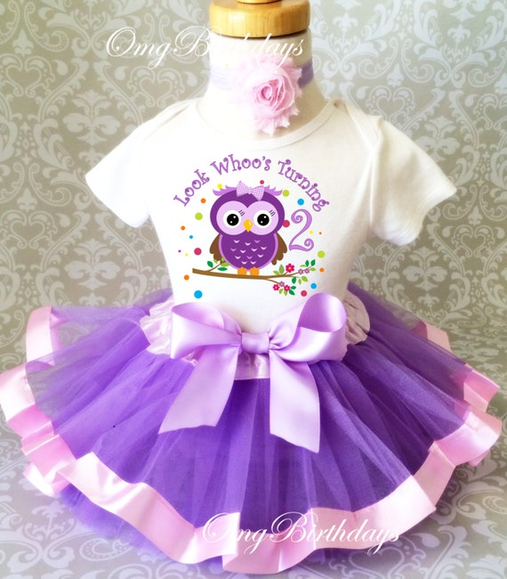 Fast Shipping Birthday Lavender Purple Pink Owl Look Whoos