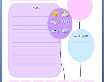 """A5 Inserts """"balloon"""" 20 sheet"""