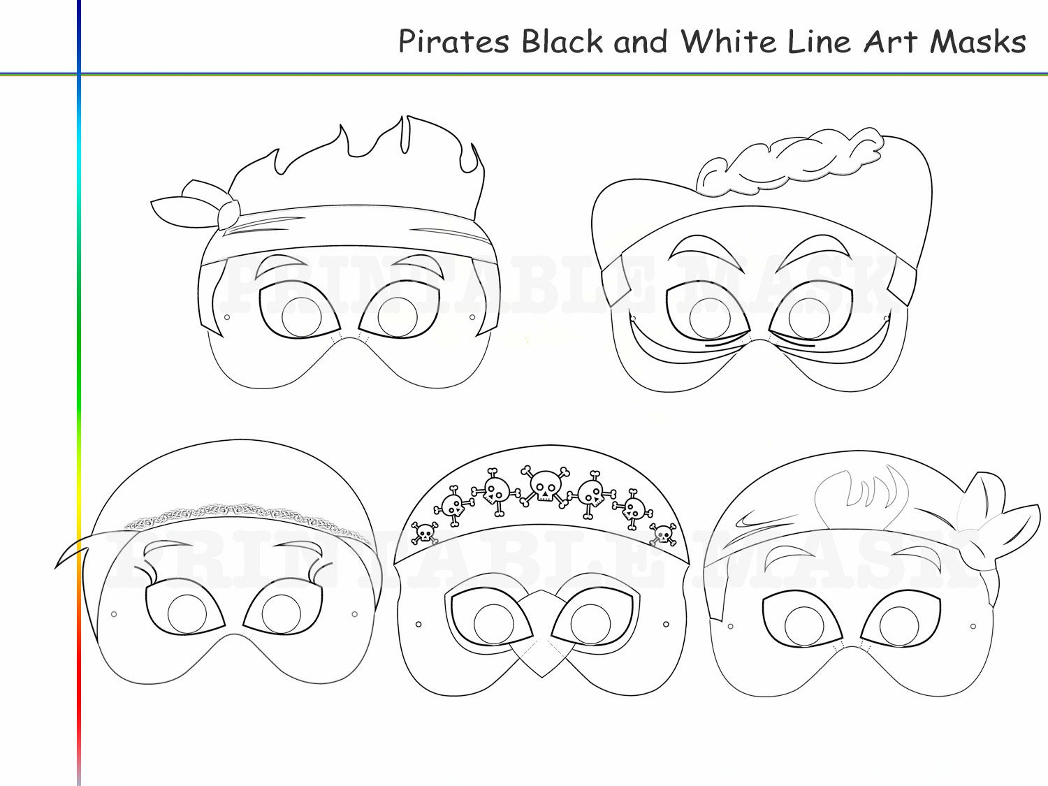 coloring pages pirates party printable black and white line