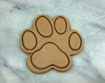 Dog Paw Cookie Cutter Detailed - SHARP EDGES - FAST Shipping - Choose Your Own Size!