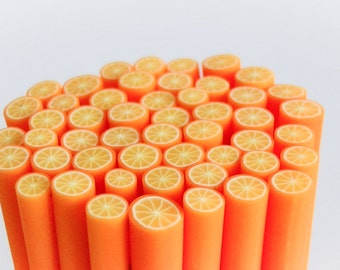 Clay Orange Cane, Qty. of 1, 5 or 10 Canes, *Free Shipping