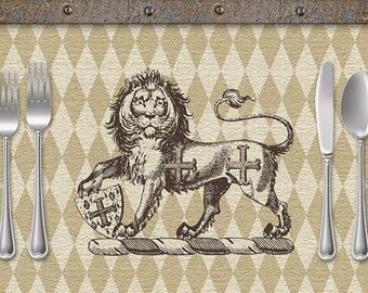 Heraldry Lion Paper Placemats