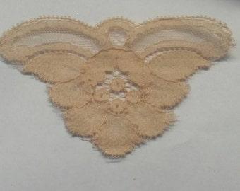 12 Pieces BROWN Venise Lace Flower Applique Patch Sew On