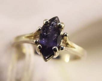 Sterling Silver Iolite Marquise Ring