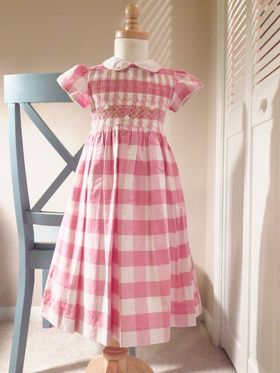 Smocked dress - heirloom - Girl Dress - toddler dress - bishop dress - smocking - hand made dress - country dress - Smocked Dress - 4