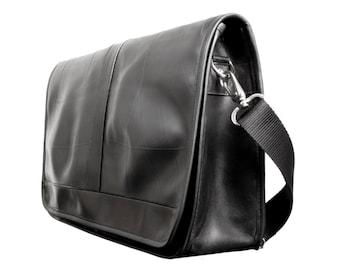 Messenger Bag/ Mens Messenger Bag/ Recycled Messenger Bag with Recycled Inner Tube