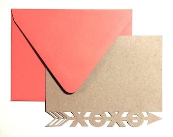Blank Greeting Card //  A2 Notecard // xoxo