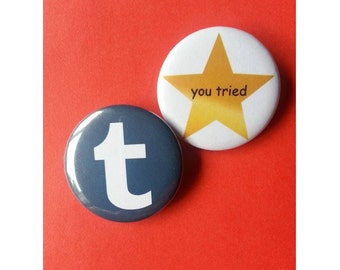 Tumblr Pinback Buttons