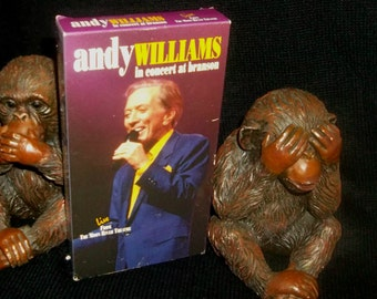 ANDY WILLIAMS vhs Video Live in Concert Branson Missouri 1994 Moon River Theatre