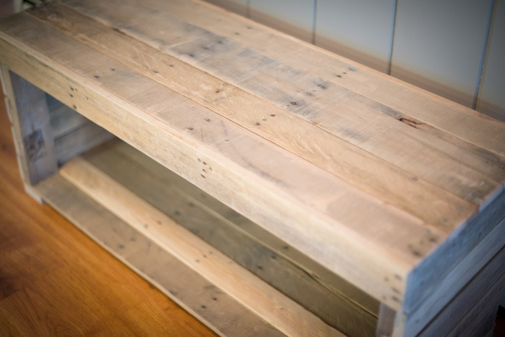 rustic pallet bench mudroom bench by recycledpallet on etsy