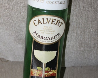 "Calvert Cocktails Bottle, Label says ""Calvert made with Imported Mexican Tequila and Triple Sec MARGARITA Made in Baltimore Maryland USA"