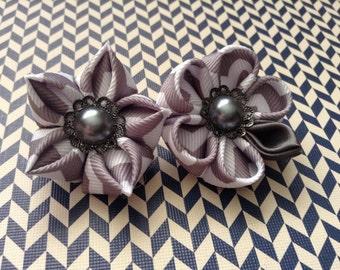 Gray lape pins