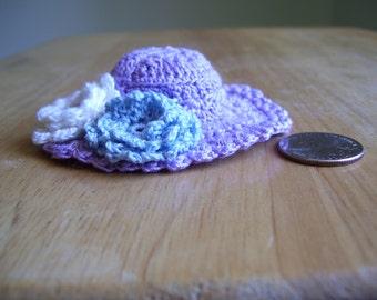 Pincushion/Home Decor Hand Crochet Lilac Hat