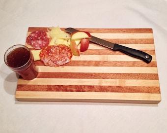 mahogany and maple wood cutting board