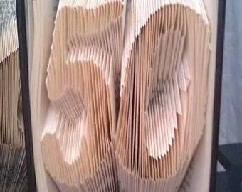 Book folding pattern for 50