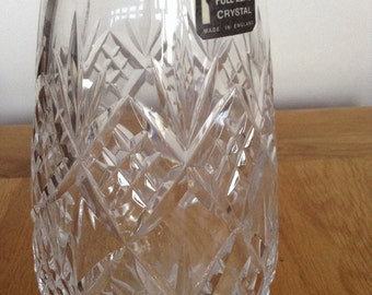 Whitefriars vase. Lead crystal.