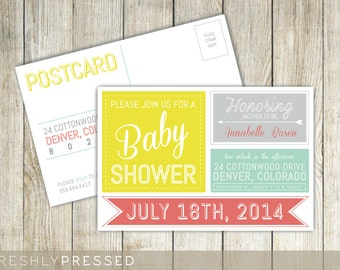 Custom Baby Shower Invitation Postcard