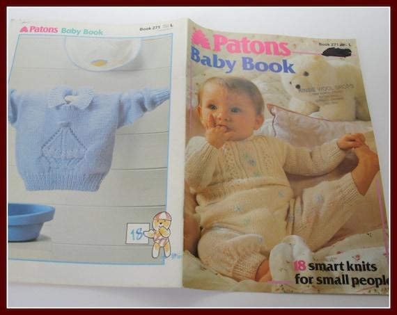Knitting Pattern Books For Babies : KNITTING pattern book for babies Patons by VintagePatternsDepot