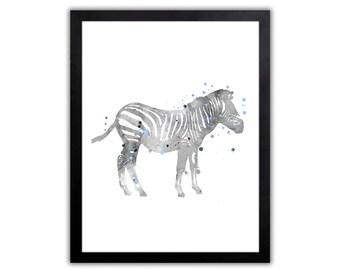 Zebra Nursery Art - Animal Art For Kids - Animal Home Decor - Zebra Picture - SA030