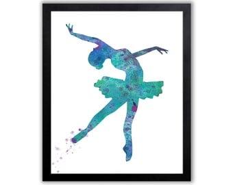 Girls Ballerina Print, Ballet, Ballerina, Dancer, Dancing, Girls Art - FIG007