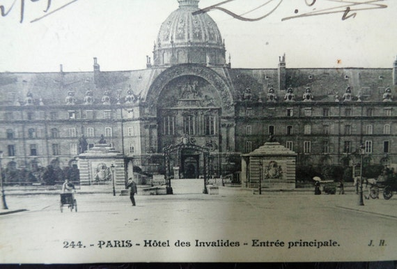 vintage antique carte postale postcard paris hotel des. Black Bedroom Furniture Sets. Home Design Ideas