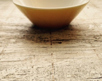 Small vintage yellow condiment bowl