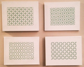 Canvas Thermostat Cover Set, Hand Painted