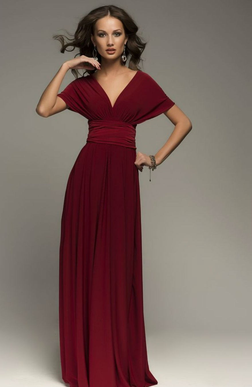 Burgundy Infinity Dress Bridesmaid Dress Wrap by Dioriss ... - photo #44