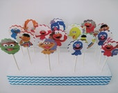 SALE - SESAME STREET Muppets - Cupcake Toppers - Set of 15