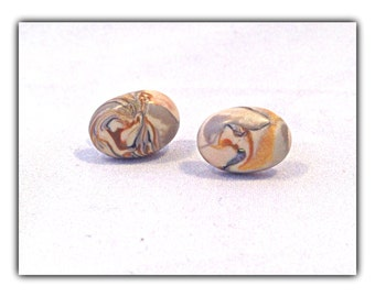 Mokume Gane Polymer Clay Earrings