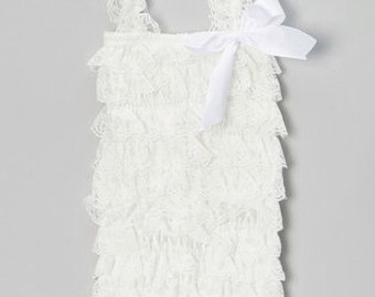 White Lace Romper for Baby/Toddlers/Girls