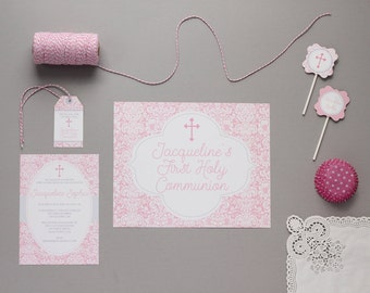 Baptism Decorations | First Communion Decorations | Religious Party Decorations  Baptism Party | First Communion Party by Printable Studio