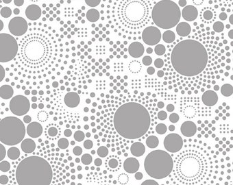Riley Blake Fabric -  Hipsters - Pop - Gray - Sold by the yard