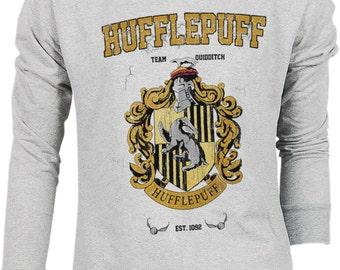 Hufflepuff Harry Potter Hogwarts Quidditch Team Festival Retro VTG Jumper Sweater Sweatshirt Long Sleeve Pullover Hoodie Hood S M L