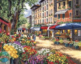 Paris Market Counted Cross Stitch Kit